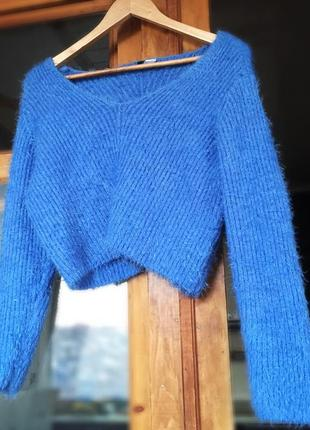 В наличии 💙 мягкий кроп свитер h&m / кофта 💙