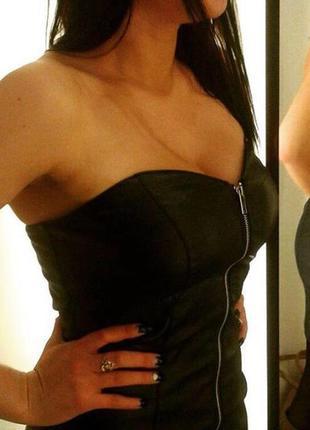Mohito «кожаное» платье3 фото