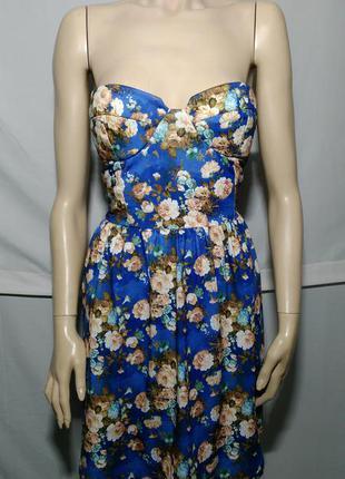 Цветочное нежное платье бюстье