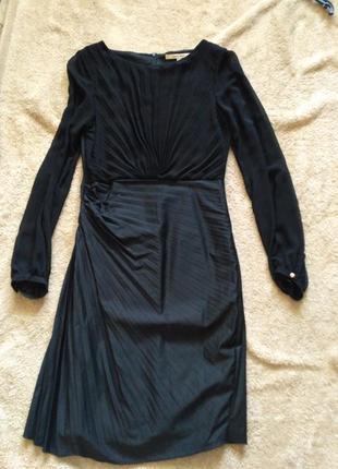 Черное коктейльное платье monica ricci