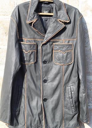 Шикарный кожаный пиджак-куртка gipsy германия