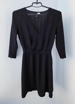 Черное платье на запах h&m