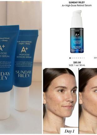 Антивовозрастная ночная сыворотка sunday riley a+ high-dose retinoid serum
