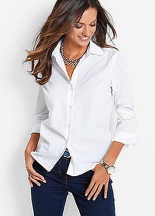H&m белая прямая рубашка оверсайз, бойфренд, сорочка, блузка