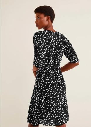 Стильное брендовое яркое платье цветы mango вискоза
