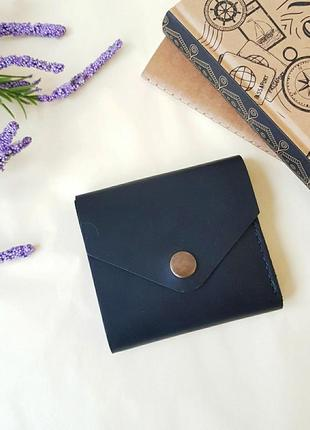 Компактный мини кошелек из натуральной кожи
