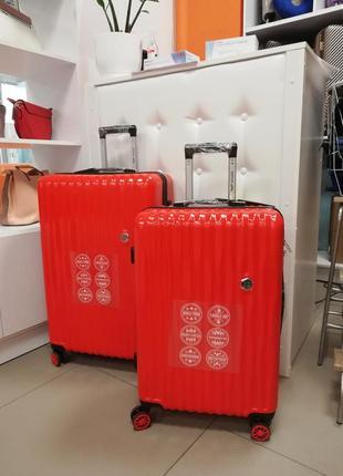 Три новых чемодана на 4(8)х келесах покарбонат усиленный!!!