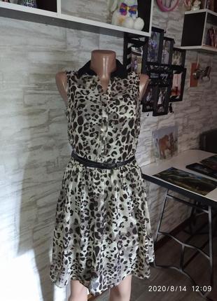 Шикарное,леопардовое платье,сток!!!