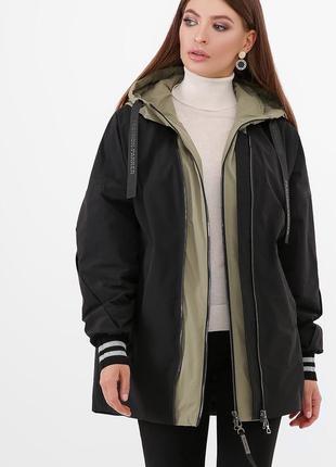 Модная демисезонная куртка оверсайз