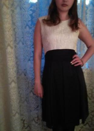 Черное с белым платье natali bolgar