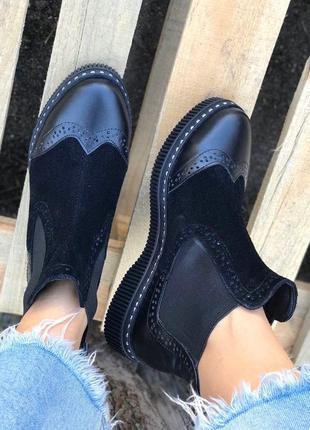 Женские натуральные ботинки - челси