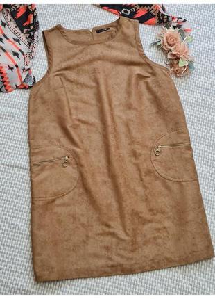 Платье-сарафан под замш tu/платье большого размера