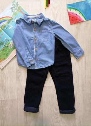 Джинсовая рубашка на мальчика.