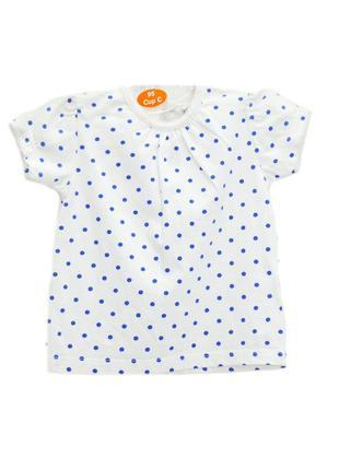Детская футболка в горошек f&f.код 1096.