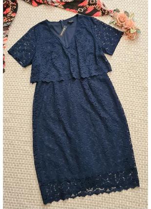 Кружевное нарядное платье jd williams/платье кружево большого размера