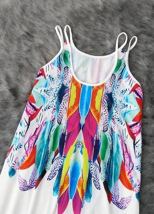 Лёгкое платье свободного кроя на бретелях2 фото