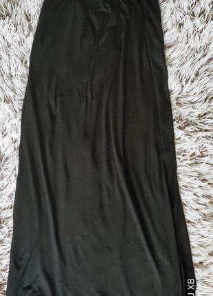Идеальная длинная черная юбка с карманами