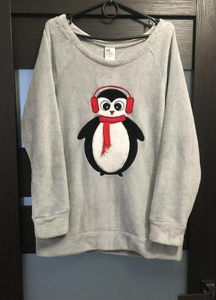 Крутой худи свитшот кофта свитер плюшевый с рисунком оверсайз свободный h&m