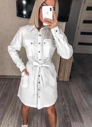 Платье рубашка белая