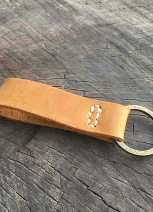 Брелок для ключів з натуральної шкіри