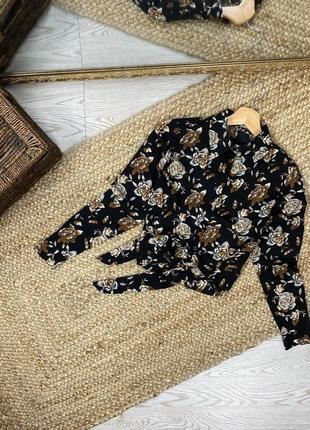 Шикарная рубашка в цветочный принт