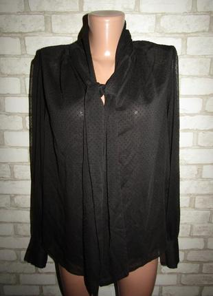 Черная блузочка р-р 38-12 бренд h&m