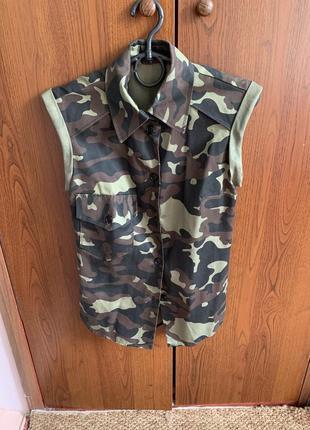 Рубашка в стиле military