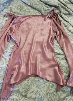 Блуза атласная - !! распродаю шкаф