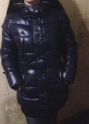 """Очень теплая зимняя курточка  """"snow owl"""" темно-синего цвета  / новая"""