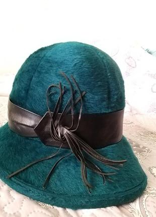 Шляпа ein mauser milz винтаж лайка фетр