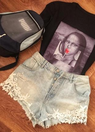 Суперские джинсовые шортики с высокой посадкой в идеальном состоянии от denim co