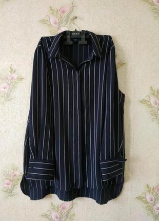 Женская блузка рубашка большого размера # женская рубашка в полоску # next