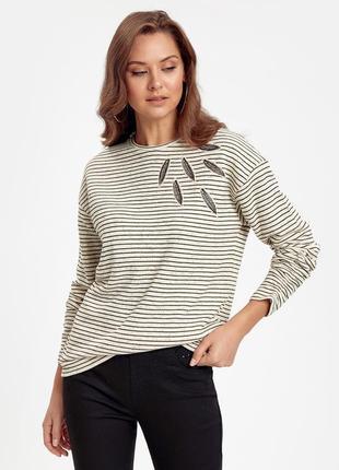 Стильный свитер в полоску двунитка lc waikiki 3xl новый