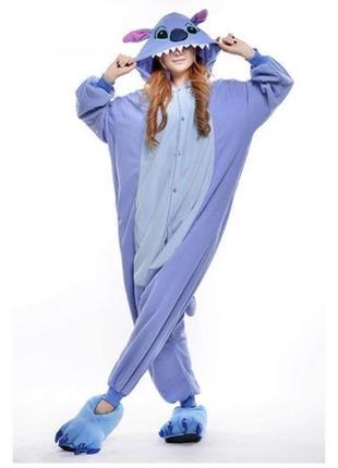 Костюм домашний пижама кигуруми стич сиреневый