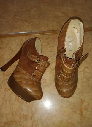 Ботинки закриті туфлі 37р