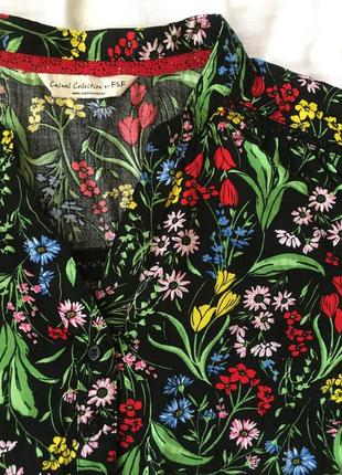 Рубашка блуза в полевые цветы