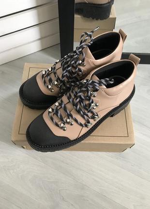 Бежевые туфли asos новые