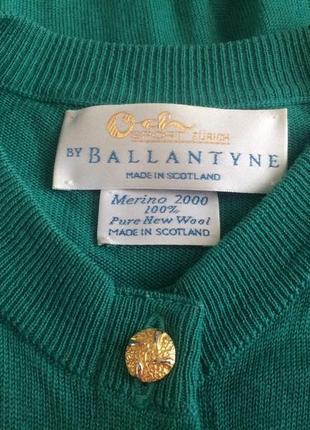 Ballantyne  кардиган  100%pure new wool