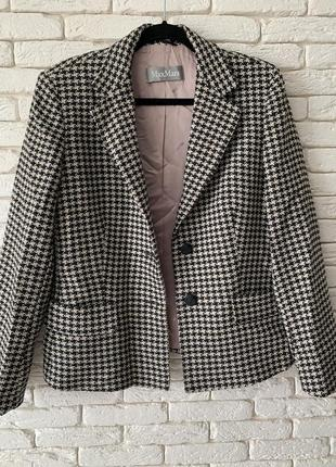 Жакет/пиджак женский maxmara в лапку с карманами оригинал идеал