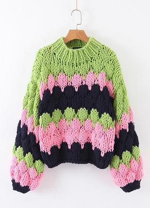 Свитер женский фактурный oversize large knitting