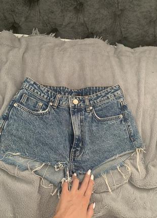 Шорты джинсовые высокая посадка hm