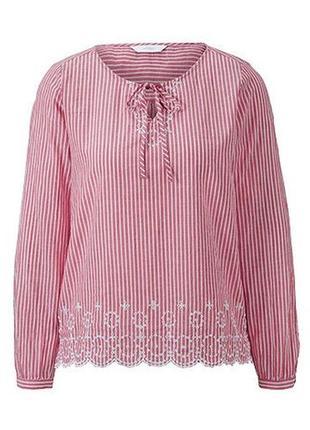 Нежная.очаровательная блуза с ажурной вышивкой tcm tchibo