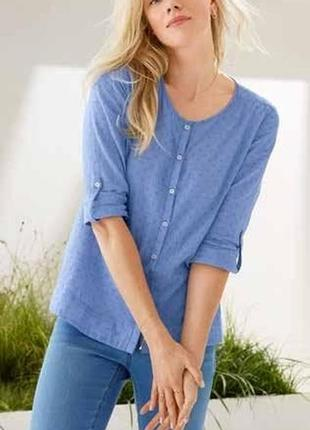 Красивая. легкая. воздушная рубашка-блуза tcm tchibo
