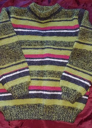 Очень теплый вязаный свитер, ручная работа