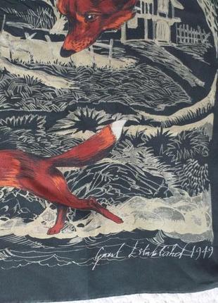 Gant  vintage 1949  рекий подписной шелковый платок
