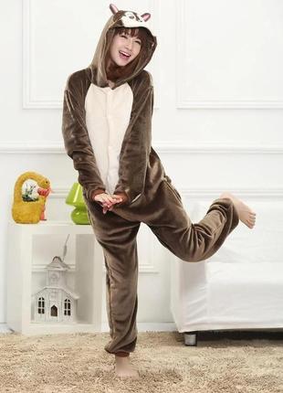 Домашний костюм пижама кигуруми бурундук бурундучок