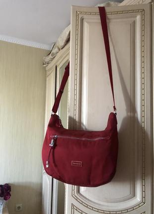 Практичная и удобная красная сумка, samsonite, оригинал,
