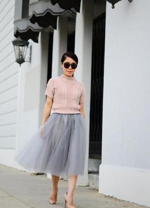 Фатиновая юбка пачка миди
