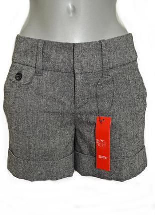 Шерстяные демисезонные женские шорты esprit.код 425