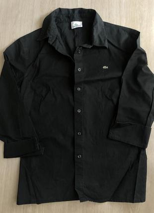 Черная рубашка lacoste 150 гривен